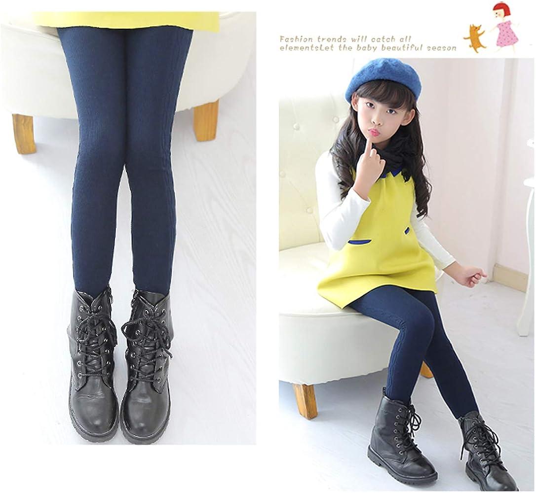 41f5a1c323b Amazon.com: Tengo Girls Winter Thick Leggings Fleece Lined Warm Kids ...