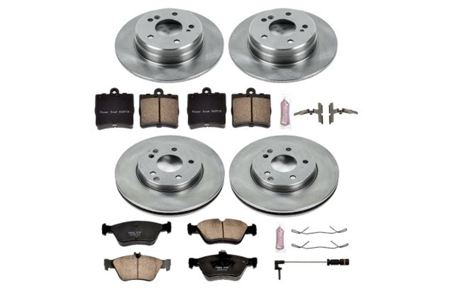Left StopTech 126.50030SL Sport Slotted Rotor