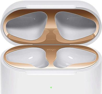 elago Dust Guard el Polvo Guardia Compatible con Apple AirPods 2 Estuche de Carga inalámbrica [Chapado en Oro 18K] [Proteger del Hierro y Las virutas de Metal]: Amazon.es: Electrónica