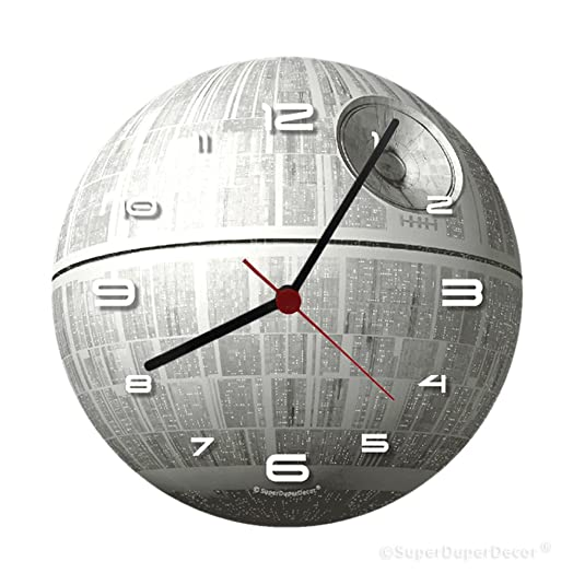 STAR WARS CLOCK GlowintheDark DEATH STAR Bedroom Wall Clock