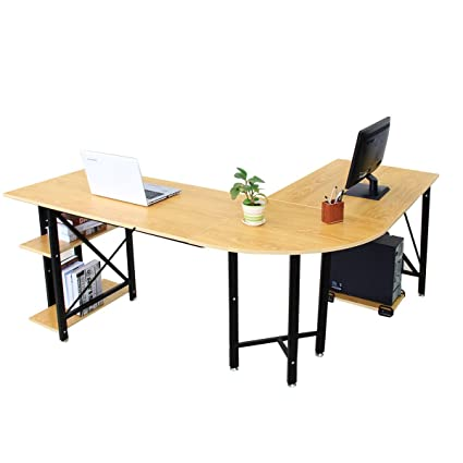 Amazoncom Bizzoelife Large LShaped Corner Desk - L shaped conference table