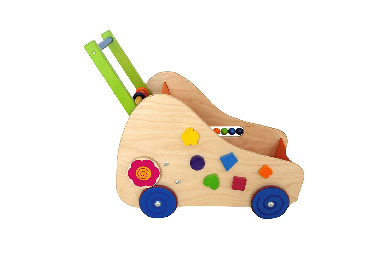 Lauflernwagen de Luxe 520 x 300 x 380 NEU Lauflernhilfe Laufwagen Holz
