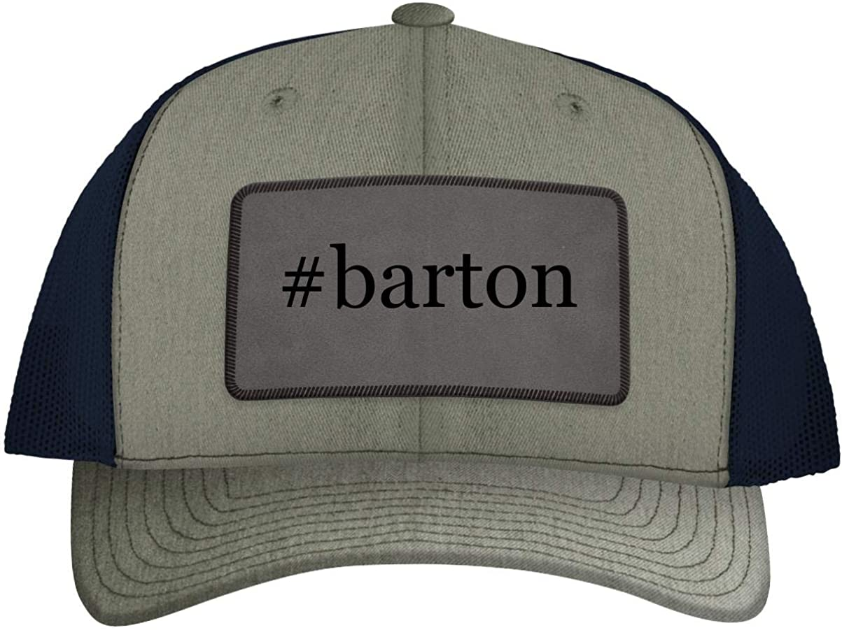 #Barton - Leather Hashtag Grey Patch Engraved Trucker Hat 61-cLvcvCaL