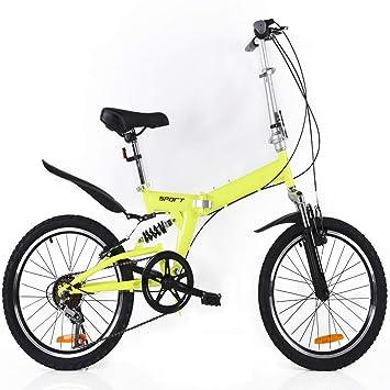 LETFF Bicicleta Plegable para Adultos 20 Pulgadas para Hombres y Mujeres Deportes Entretenimiento portátil Bicicleta Plegable