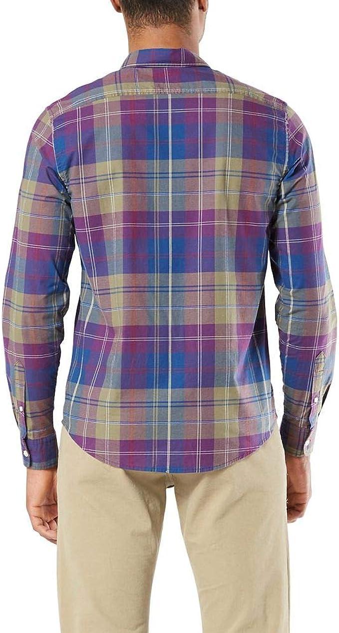 dockers Long Sleeve Original Button Down Washed Shirt Camisa Abotonada, Aponte Viola, S para Hombre: Amazon.es: Ropa y accesorios