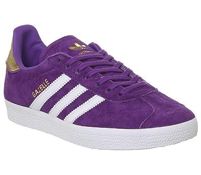 promo code 99736 c06b0 adidas Gazelle White Purple Gold Metallic Elizabeth Tfl - 4 UK