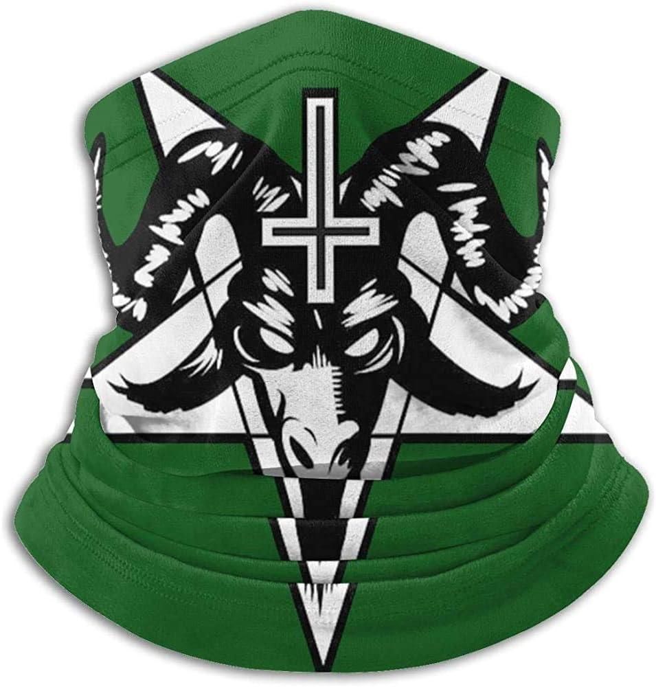 MOTALIN Fleece Neck Warmer,Tube Neck Gaiters,Unisex Neck Scarf,Beanie,Men//Women Headbands,Satan Painting-Baphomet Satanic Pentagram Balaclava,Outdoor Headwear,Winter Face Warmer