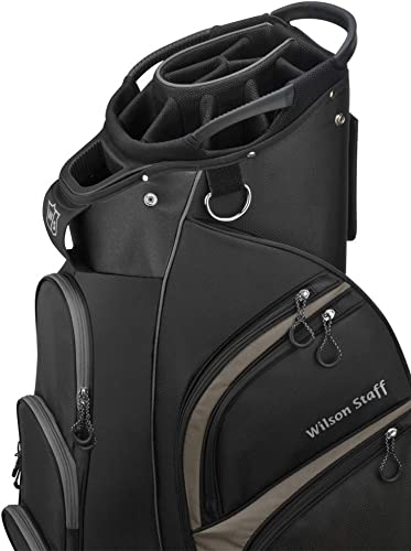 Wilson Staff Xtra Cart Bag, Black Grey