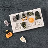 2 Pack Halloween Silicone Mold Fondant Mold Cake Decorating Tools Chocolate Mold