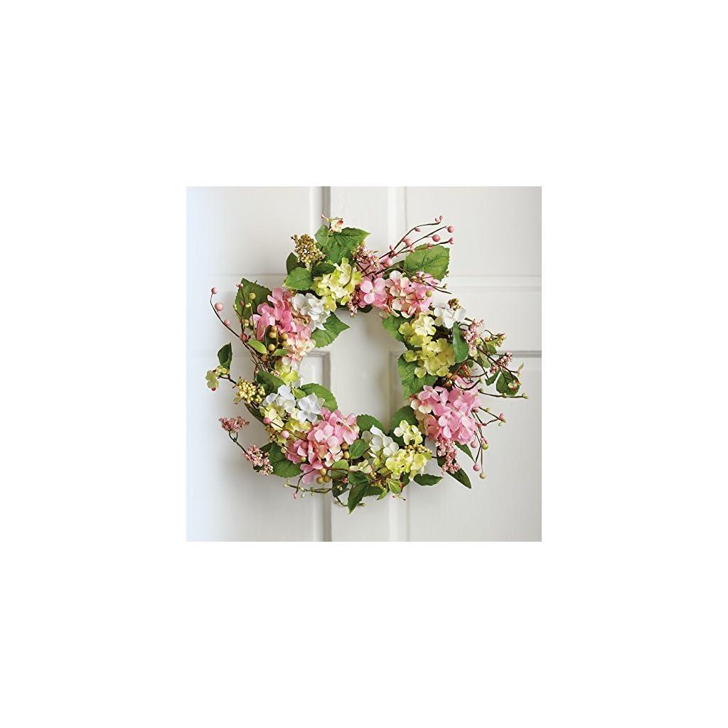 Collections-Etc-Spring-Floral-Hydrangea-Door-Wreath