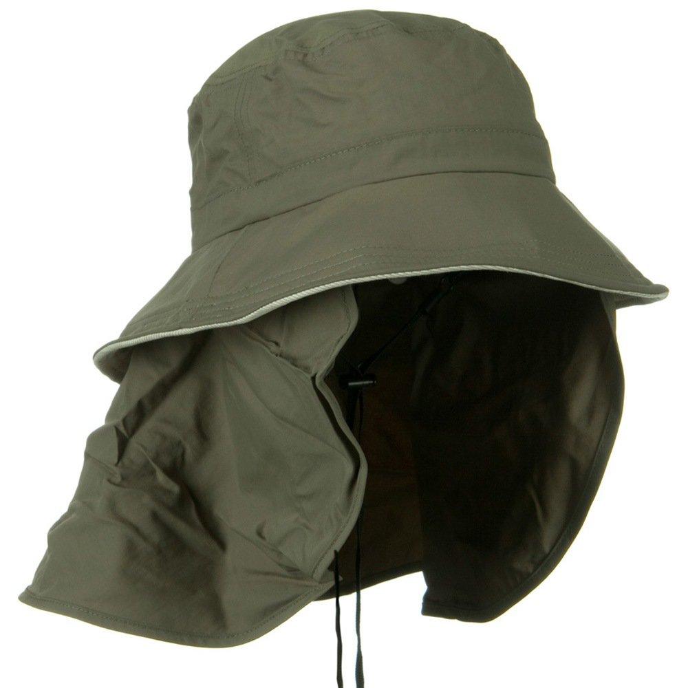 Olive Talson Removable Flap UV Bucket Hat Juniper UV 50