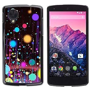 Caucho caso de Shell duro de la cubierta de accesorios de protección BY RAYDREAMMM - LG Google Nexus 5 D820 D821 - Planets Paint Spots Oil Art