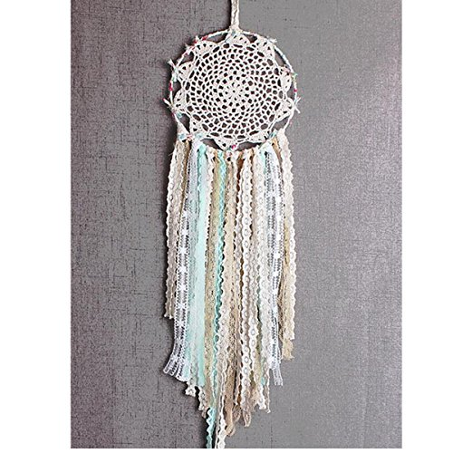 Dremisland Dream catcher Handmade Traditional White Feather Wall Hanging Car Hanging Home Decoration Ornament Decor Ornament Craft Gift