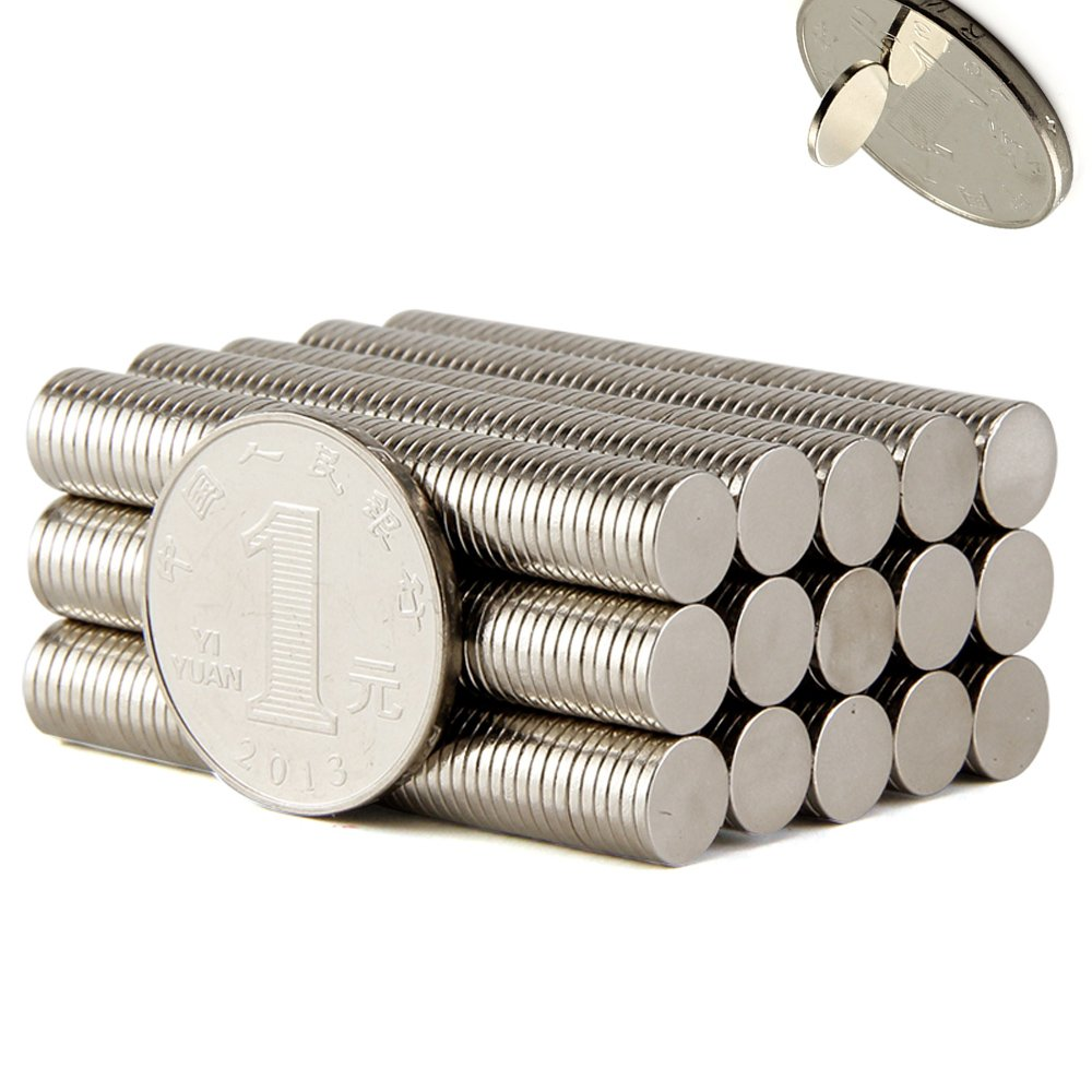 6MM x 1MM Small Multi-Use Refrigerator Magnets for Refrigerator, Science, Crafts - Tiny Round Disc, Sliver,-100Pcs