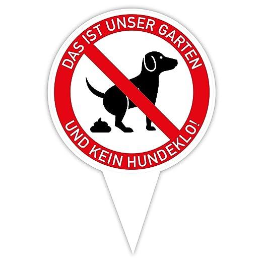 Cartel para Perros sin Inodoro, Rojo: Amazon.es: Bricolaje y ...