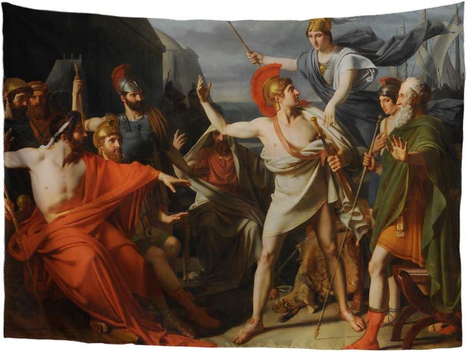 POLERO Tapiz de Arte clásico de mitología Griega 02, Achilles, 50in*59in: Amazon.es: Hogar