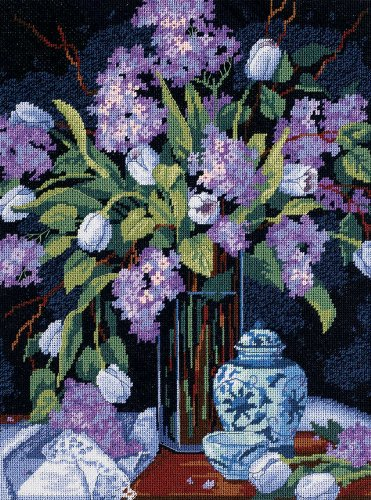 Dimensions Needlepoint Kit -tulips And Lilacs