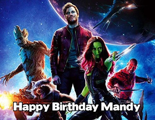 Guardians of the Galaxy Image Photo Cake Topper Sheet Personalized Custom Customized Birthday Party - 1/4 Sheet - (Guardians Of The Galaxy Decorations)