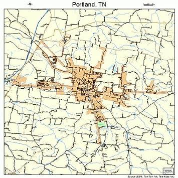 Amazon.com: Large Street & Road Map of Portland, Tennessee TN ...