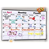 "Rabbitgoo Dry Erase Monthly Calendar 2019 - Fridge Magnetic Calendar Whiteboard Organizer for Smart Planners, Refrigerator Marker Board Calendar for Home, Office, School, 43 x 30cm, (17"" x 11.8"")"