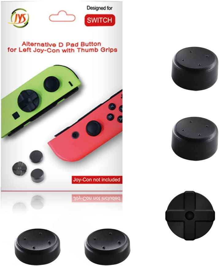 J&TOP Joy-con D Pad Button with Thumb Grips Caps for Nintendo Switch(2 Pares): Amazon.es: Electrónica