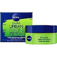 NIVEA Daily Essentials Urban Skin Detox Night Gel Cream, 50 milliliters