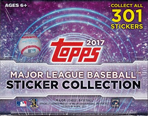 2017 Topps MLB Baseball Sticker Collection Factory Sealed Unopened Box of 50 Packs Containing 400 Total Stickers