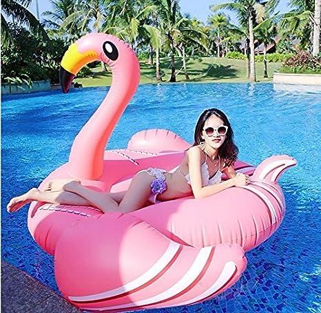 Beach Toy ® - Flotador gigante para piscina FLAMENCO ROSA, tamaño XXL: 190 x 190 x 130 cm, entrega ultra rápida: Amazon.es: Juguetes y juegos