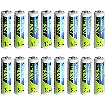 Amazon Com Powerdriver 1000mah Aa Rechargeable Nicd Ni Cd