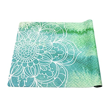 GYFY Caucho Natural Verde Yoga Mat Toalla Toalla Gamuza ...
