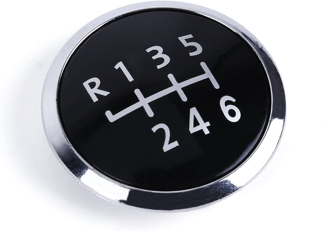 Badge Pastille pour Pommeau levier de vitesse Noir 6 Niveau de Vitesses