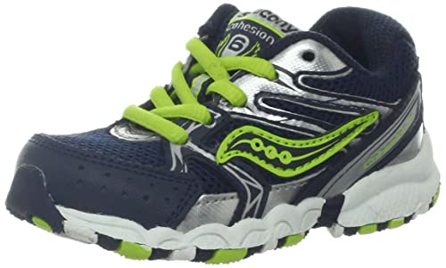 c2f11a8a Saucony Boys Baby Cohesion Lace Running Shoe (Toddler)