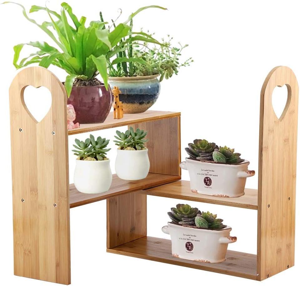 YANFEI Soporte para Plantas de bambú Suculentas Macetas Exhibidor ...