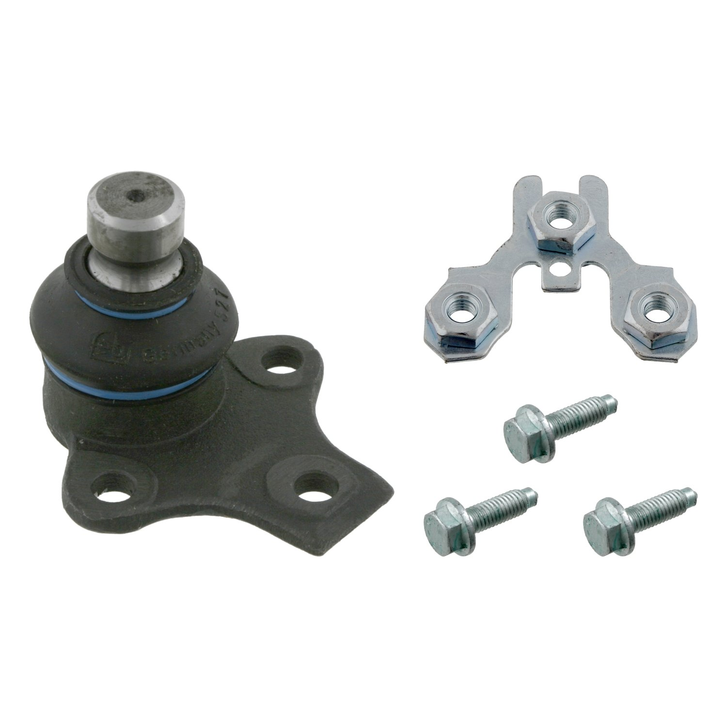 febi bilstein 03548 ball joint with add-on material (front axle both sides, lower)  - Pack of 1