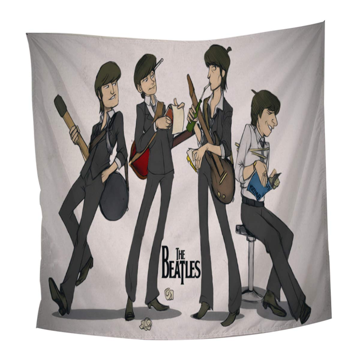 Koongso The Beatles Wall Hanging Tapestry Hippie Handicraft Decoration Beach Blanket for Bedroom Dorm Decor 51 W x 60 L