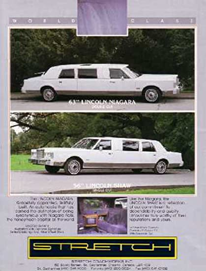 Amazon Com 1985 Lincoln Limousine Town Car Sales Page Literature