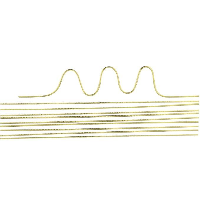 Basteldraht 40 cm Messing-Draht 2 mm ø 5 Stück SB-Btl