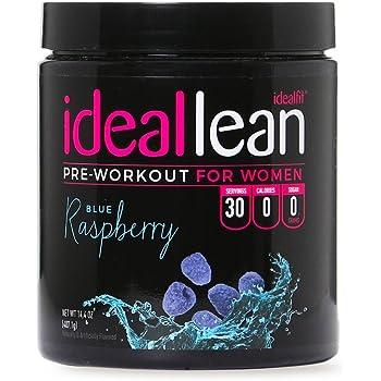 Amazon Com Ideallean Pre Workout For Women Blue Raspberry