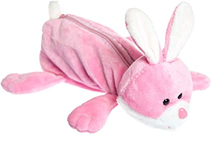 TGO - Estuche (peluche), forma de conejo: Amazon.es: Oficina y papelería