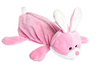 TGO - Estuche (peluche), forma de conejo: Amazon.es: Oficina ...