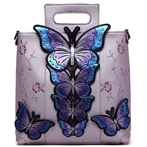 Butterfly Lady Embroidery Female 2018 No Shoulder Handbag rosado en Bag National Wind Painted Bag Hlh Big wCYSxq0zz