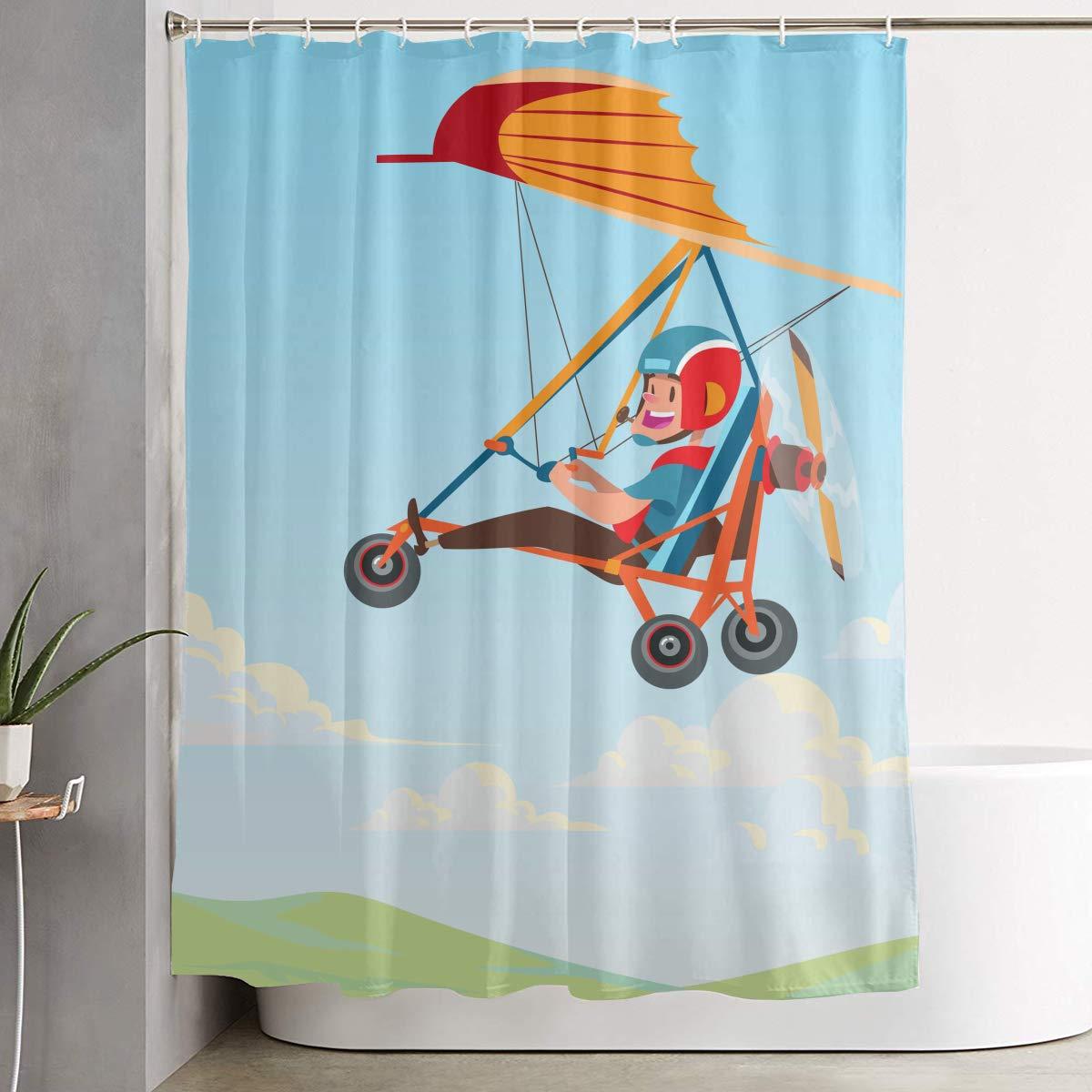 PLMOK Hang Glider Trike - Cortina de Ducha de Tela Repelente al ...