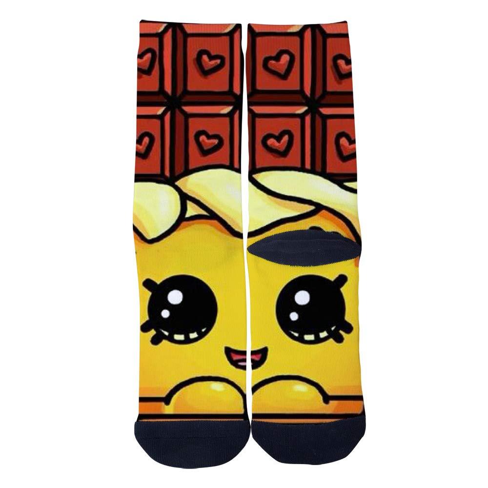 TheFun-Z Custom Lovely Chocolate Socks Novelty Funny Cartoon Crew Socks Elite Casual Socks