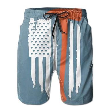 huibe Bandera Americana Bombero de Moda Traje de baño de ...
