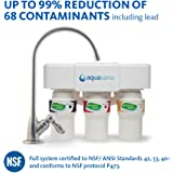 Aquasana 3-Stage Under Sink Water Filter System with Chrome Faucet