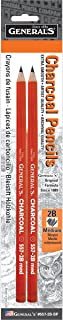 product image for General Pencil GEN5572BBP Generals Charcoal Pencil - 2B44; 2 Piece - Pack of 6