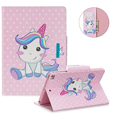 MOIKY Case for iPad Mini 5 2020,Folio Stand Wallet Smart Cover for iPad Mini 5th Generation/iPad Mini 1 2 3 4,Slim Stylish Painted Pattern Shockproof PU Leather Protective Case,Cartoon Horse: Musical Instruments [5Bkhe0500778]