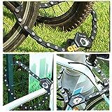MIWI Bike Chain Locks,Bike Cable Locks,Folding Bike Lock,Bicycle Burger Lock,Bike Folding Chain Lock,Bicycle Locks Heavy Duty Anti Theft,Great Bike Safety Tool