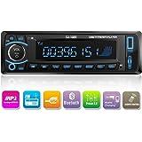 Kidcia Car Stereo, Single-Din Version, Bluetooth In Dash, Remote Control, Digital Media Receivers, USB/SD/Audio Receiver/MP3 Player/FM Radio by Kidcia