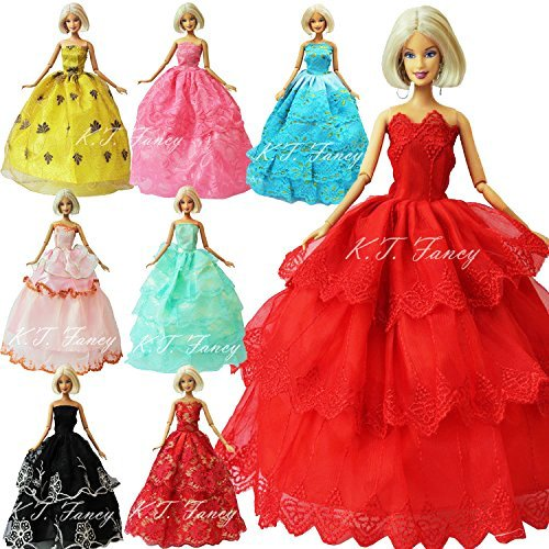 Good Fancy Dress Outfits (K.T. Fancy 6PCS Handmade Fashion Party Dress Outfit for Barbie Doll)